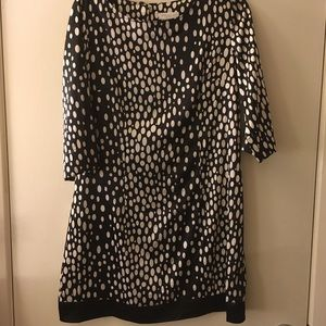 Black and white dotted shirt/dress